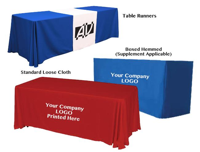 Exhibition Stand Tablecloths : Chic banners